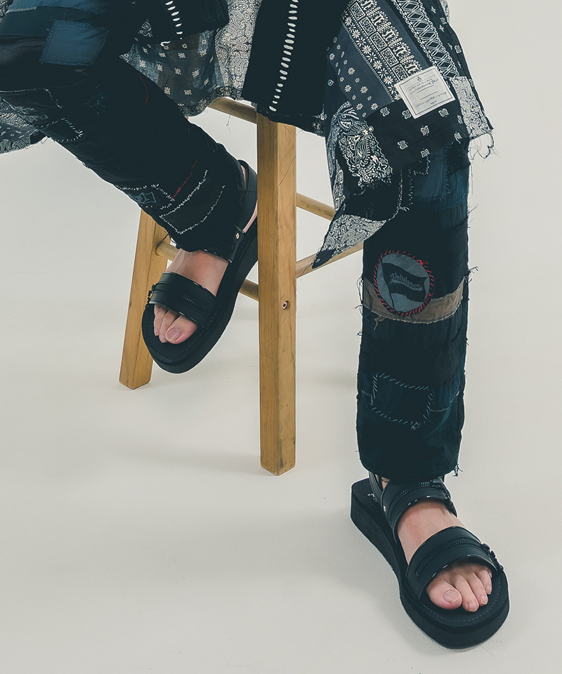 【EFFECTEN(エフェクテン)】【予約販売2月上旬~中旬】EFFECTEN (utility) × TEARS OF SWAN × KIDS LOVE GAITE Rubber Sole Zip Sandal サンダル(efun-37)