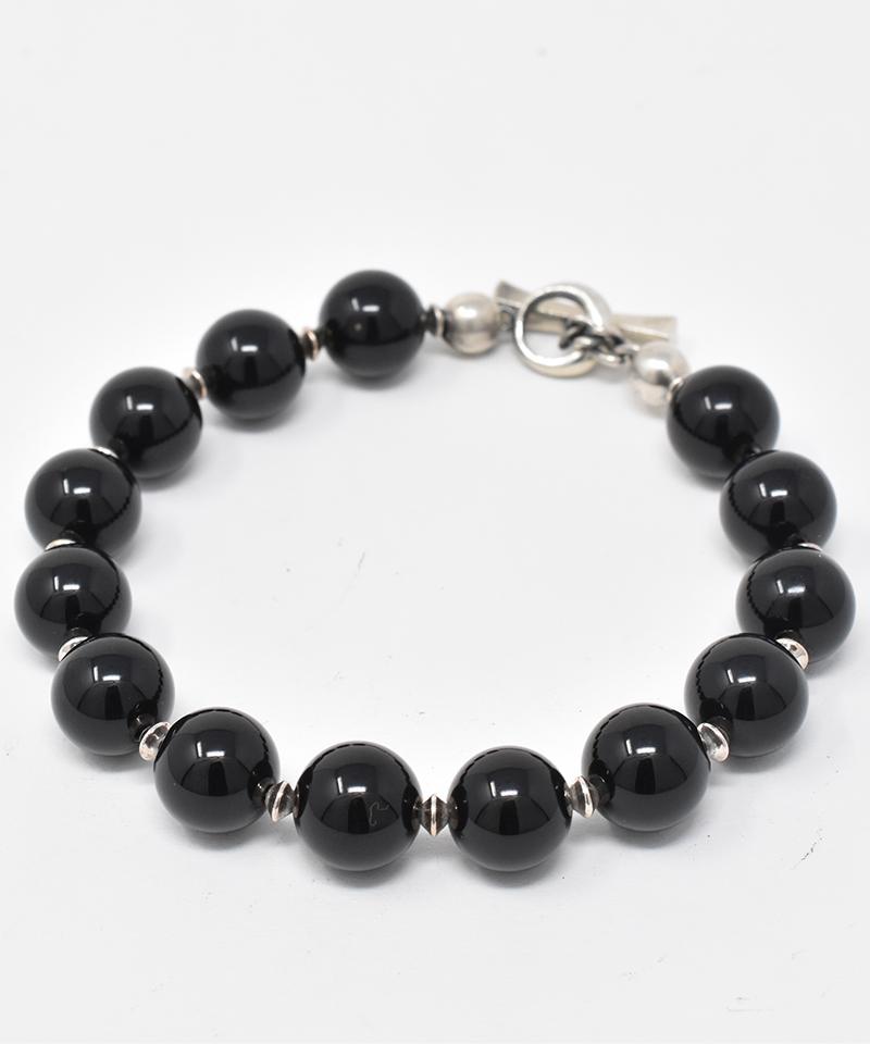 【IDEALISM SOUND(イデアリズム サウンド)】【予約販売ご注文後から1ヶ月後出荷】Onyx & Silver Beads Bracelet L ブレスレット(S19042)