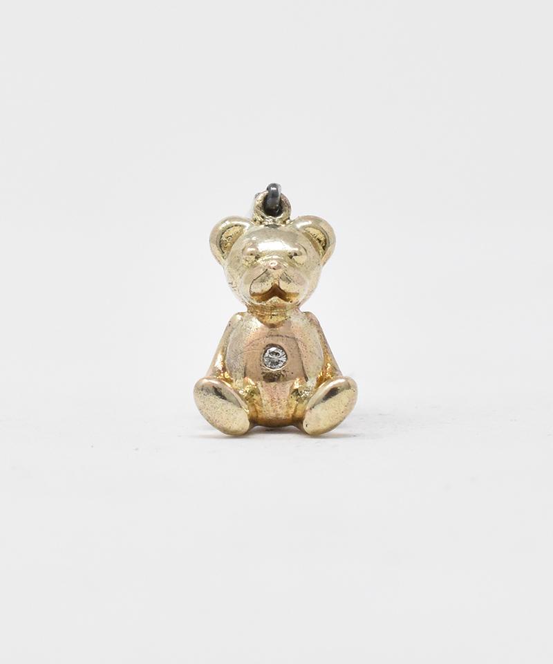 【IDEALISM SOUND(イデアリズム サウンド)】【予約販売ご注文後から1ヶ月後出荷】10KYG Bear Necklace with Diamond ペンダントトップ(S19005)