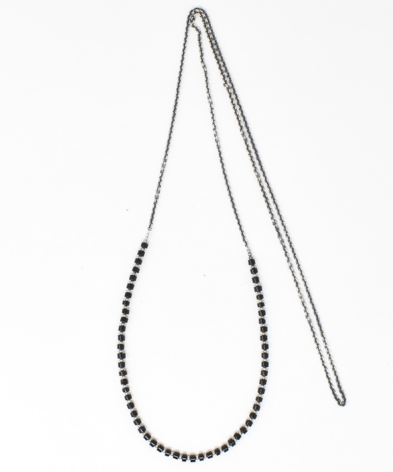 【IDEALISM SOUND(イデアリズム サウンド)】【予約販売ご注文後から1ヶ月後出荷】Onyx & Silver Beads Necklace L ネックレス (S19040)
