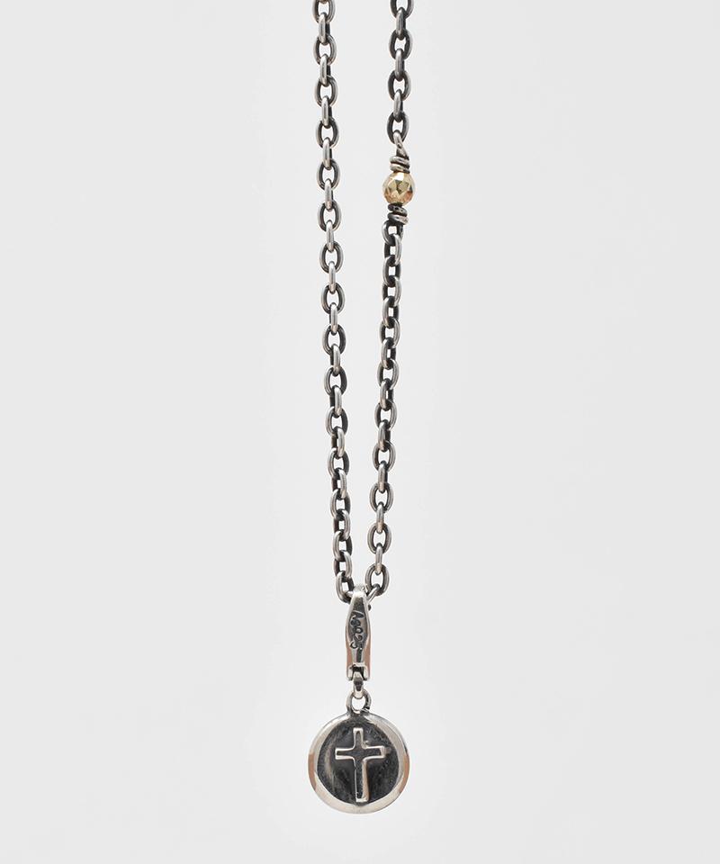 【IDEALISM SOUND(イデアリズム サウンド)】【予約販売ご注文後から1ヶ月後出荷】Cross on Circle Necklace ネックレス(S19075)