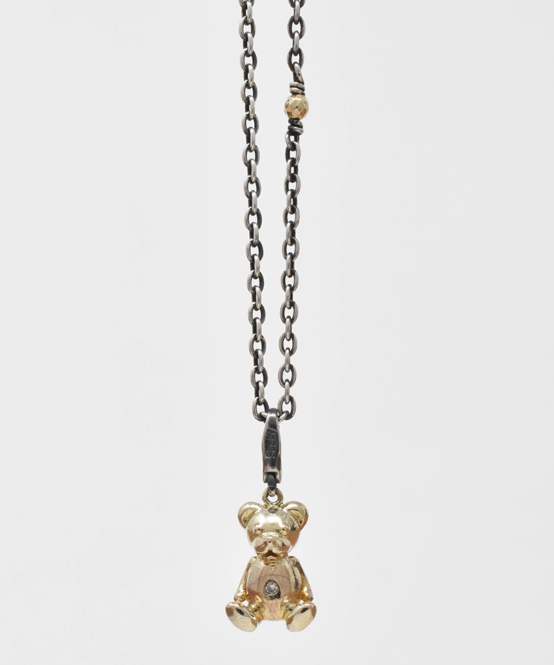 【IDEALISM SOUND(イデアリズム サウンド)】【予約販売ご注文後から1ヶ月後出荷】10KYG Bear Necklace with Diamond ネックレス(S19079)