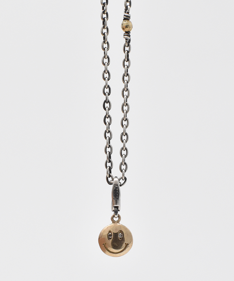 【IDEALISM SOUND(イデアリズム サウンド)】【予約販売ご注文後から1ヶ月後出荷】10KYG Smile Necklace with Diamond ネックレス(S19082)