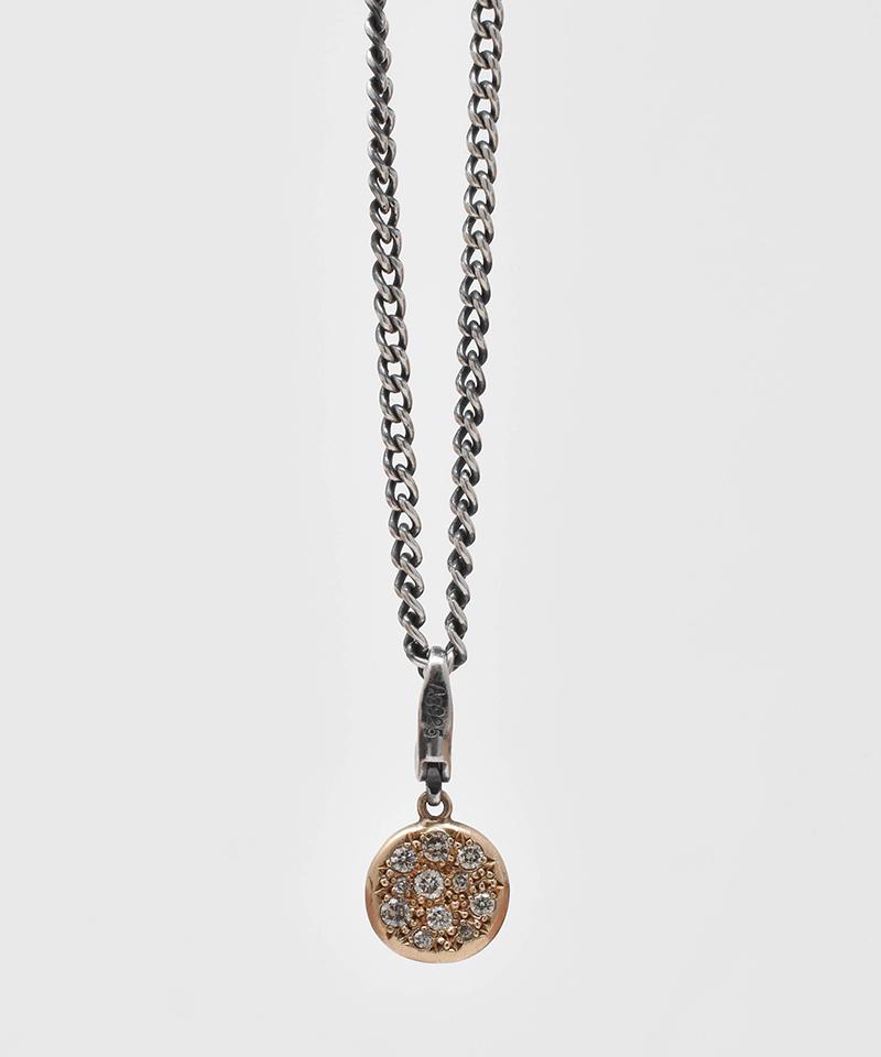 【IDEALISM SOUND(イデアリズム サウンド)】【予約販売ご注文後から1ヶ月後出荷】10KYG Circle Necklace with Diamond ネックレス(S19089)