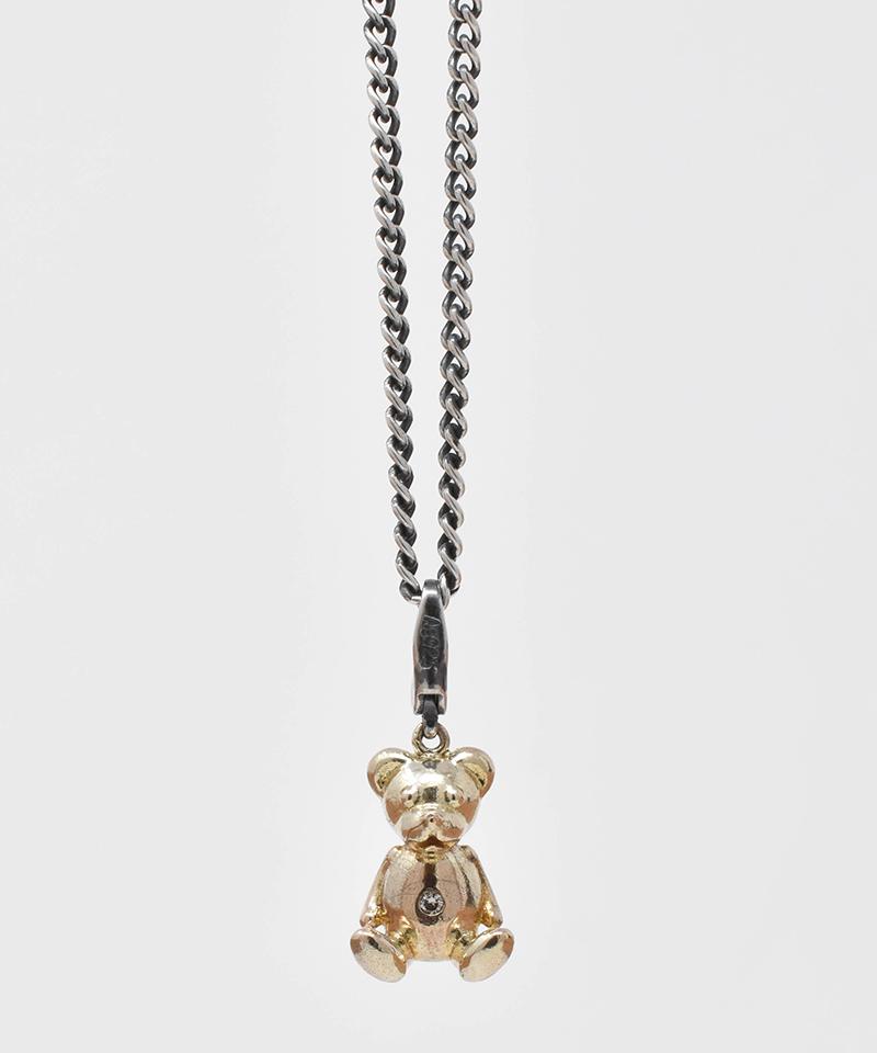 【IDEALISM SOUND(イデアリズム サウンド)】【予約販売ご注文後から1ヶ月後出荷】10KYG Bear Necklace with Diamond ネックレス(S19091)