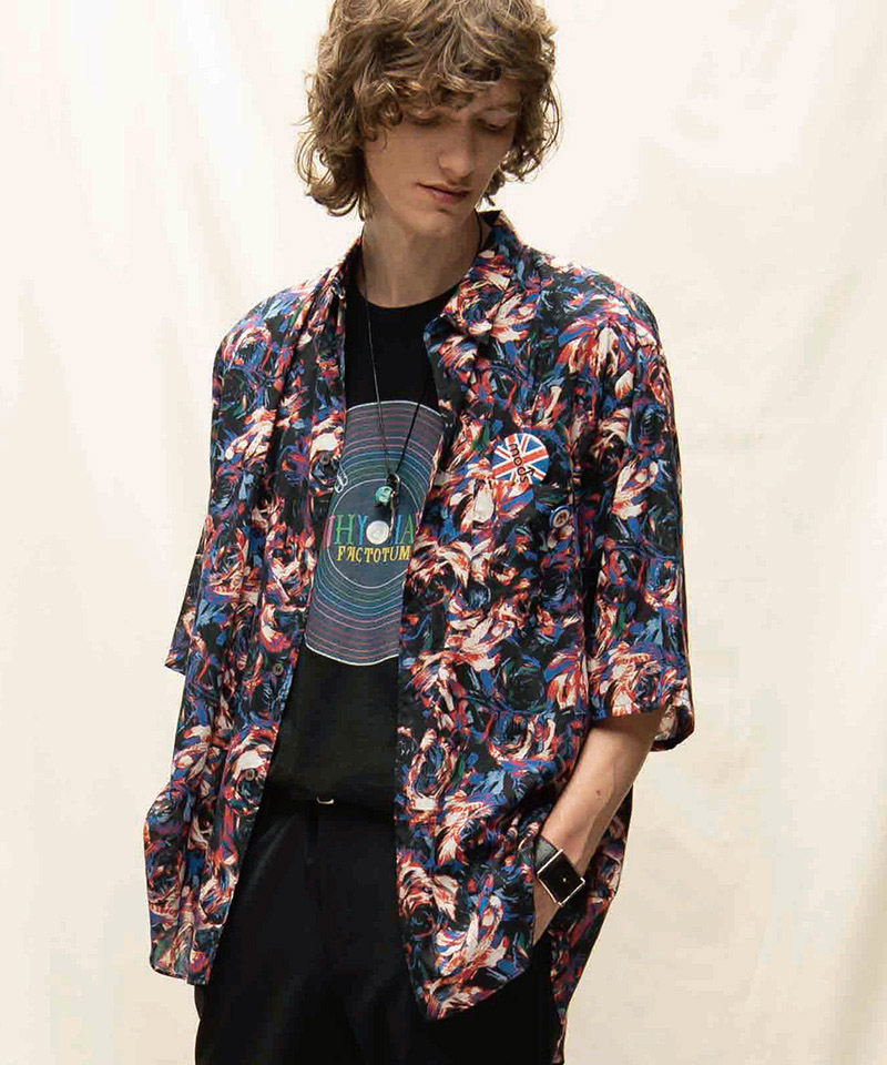 【FACTOTUM(ファクトタム)】Rexcell Psychedelic wide S-S Shirts シャツ(01061439)