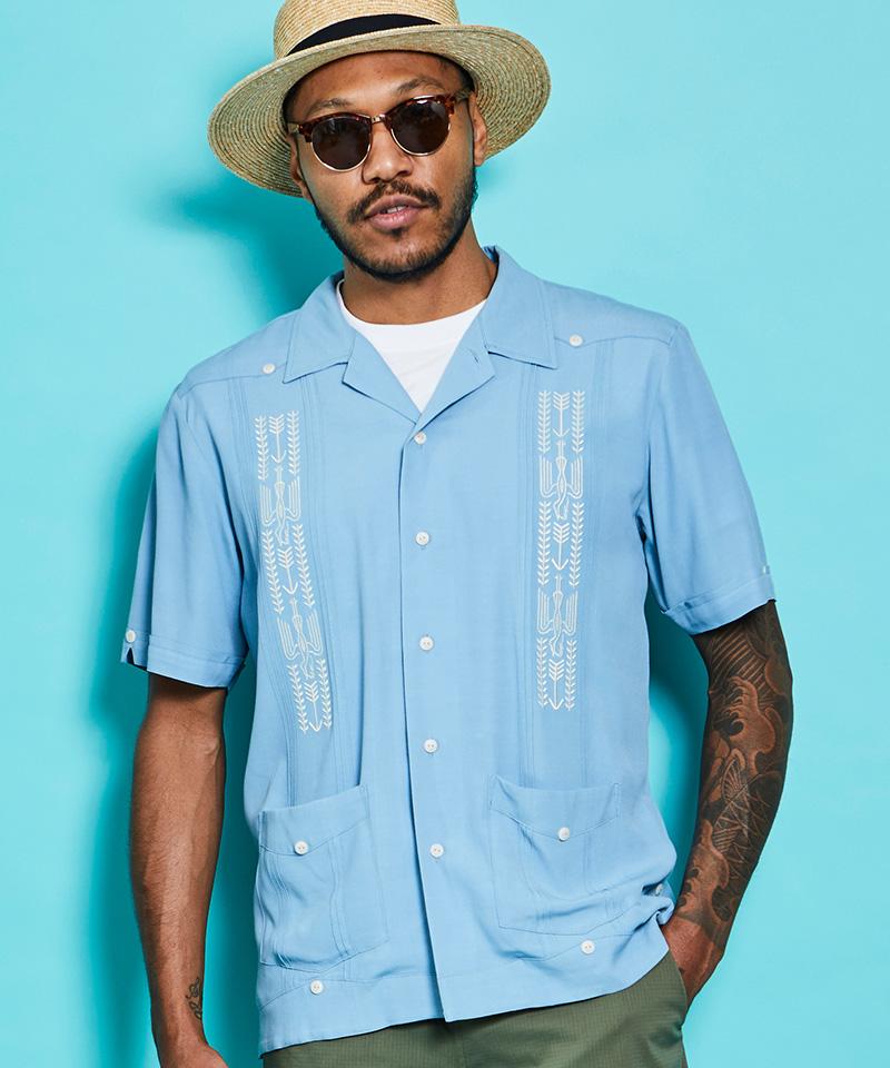 【ROTAR(ローター)】【予約販売5月下旬~6月上旬入荷】Chirimen Cuba Shirt シャツ(rt2034011)