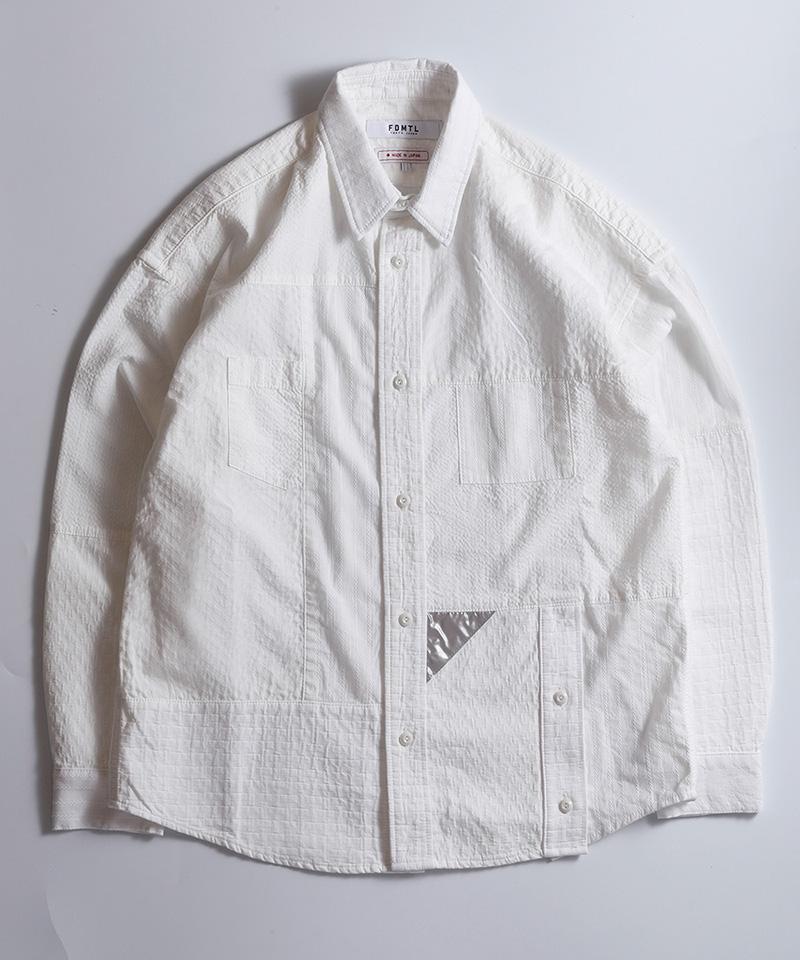 【FDMTL(ファンダメンタル)】BORO PATCHWORK SHIRT RINSE シャツ(FA20-SH33B)