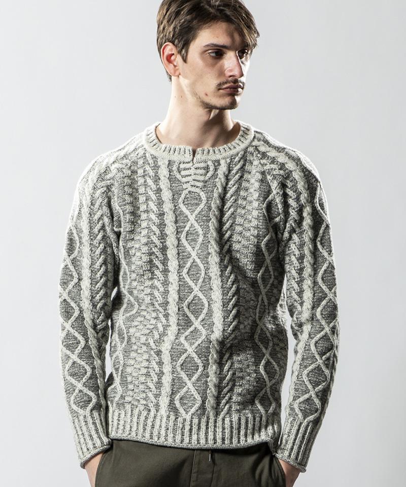 【wjk】【予約販売9月中旬~下旬入荷】key-neck cable knit ニット(6859 kw44s)