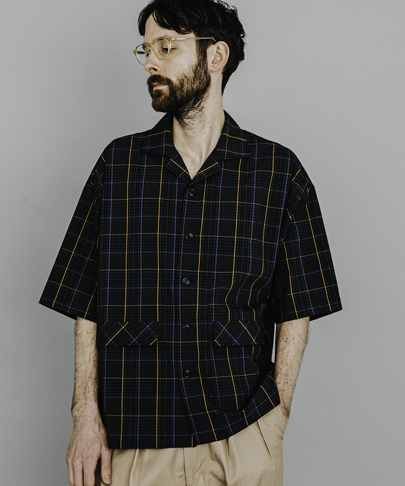 【MROLIVE(ミスターオリーブ)】SOLOTEX STRETCH CHECK -HALF SLEEVE ADVENTURE SHIRT シャツ(M-20224)