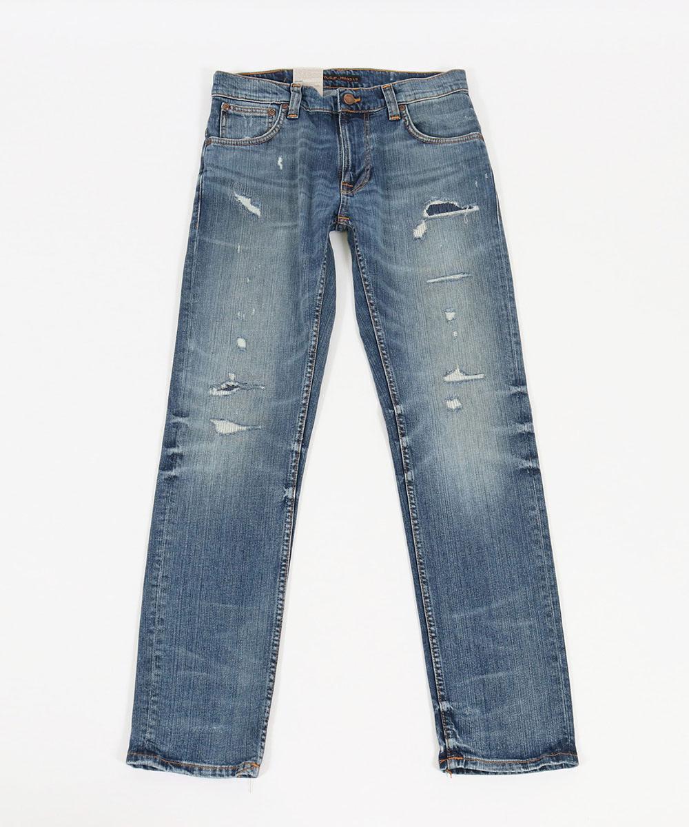 【Nudie Jeans(ヌーディージーンズ)】THIN FINN106 WORN IN ECRU デニムパンツ(113310030)