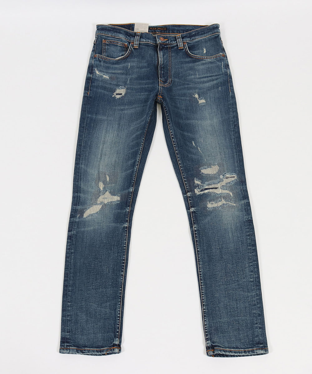 【Nudie Jeans(ヌーディージーンズ)】LEAN DEAN BEATEN INDIGO デニムパンツ(113311030)