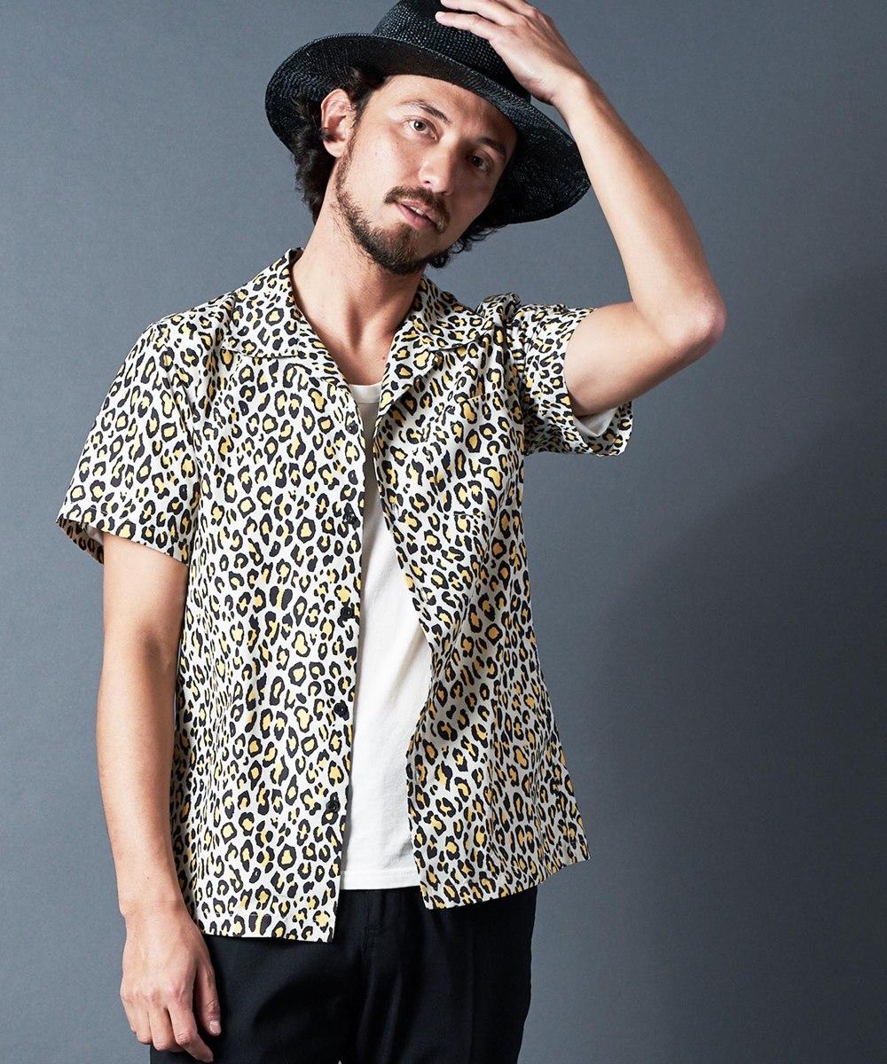 【Magine(マージン)】PE LEOPARD PRINT OPEN-C SHIRTS S-S:レオパード プリント オープンカラーシャツ ショートスリーブ(2011-61)