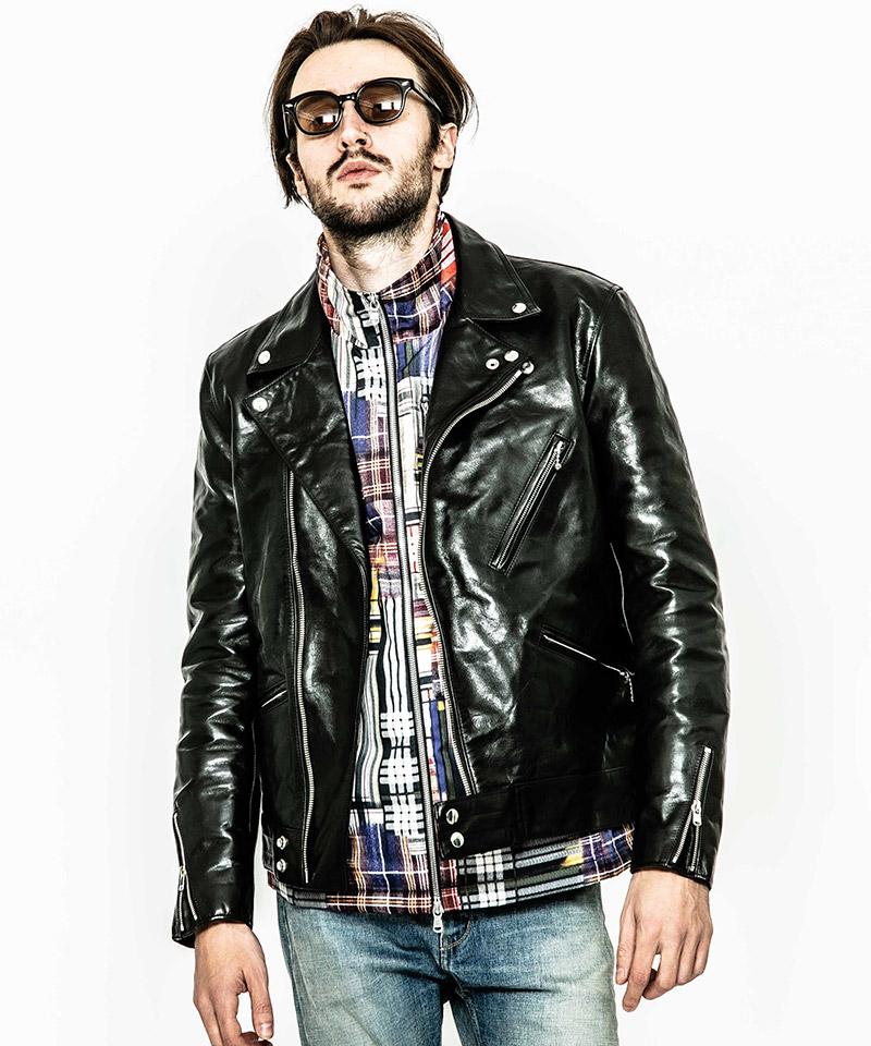 【ACANTHUS(アカンサス)】【予約販売10月上旬~中旬入荷】Horse Leather Double Riders ライダースジャケット(L2007)