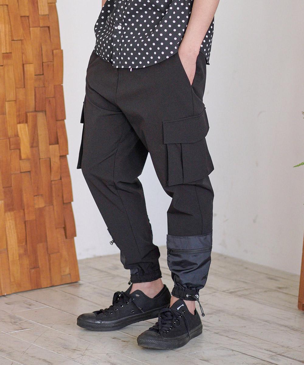 【CAMBIO(カンビオ)】Stretch Nylon Jogger Cargo Pants