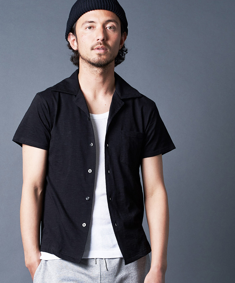 【Magine(マージン)】MARBLE VINTAGE CUT SHIRTS S-S シャツ(2022-35)