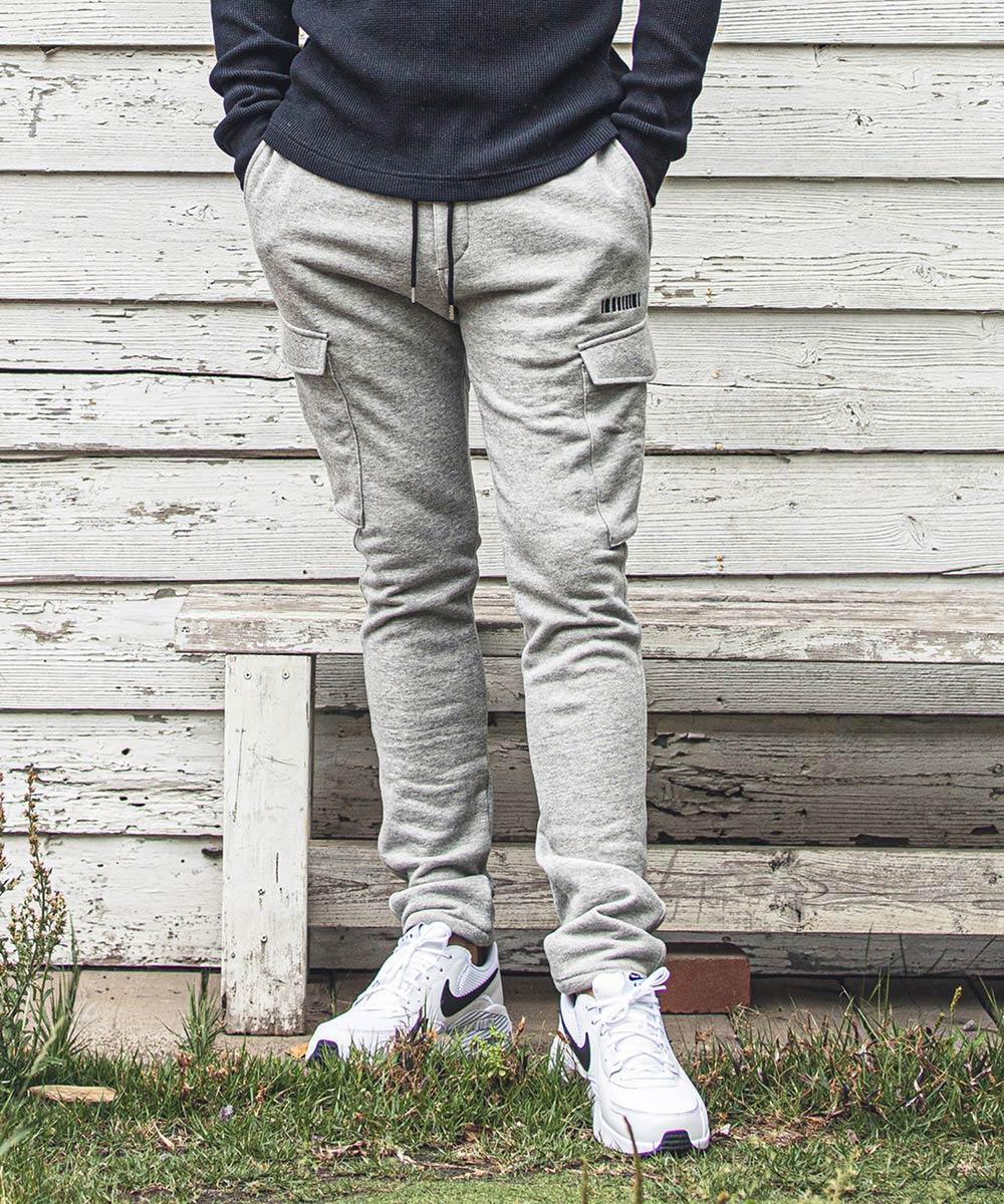 【felkod(フィルコッド)】【予約販売9月中旬~下旬】Tapered Skinny Cargo Sweat Pants(F20W090)