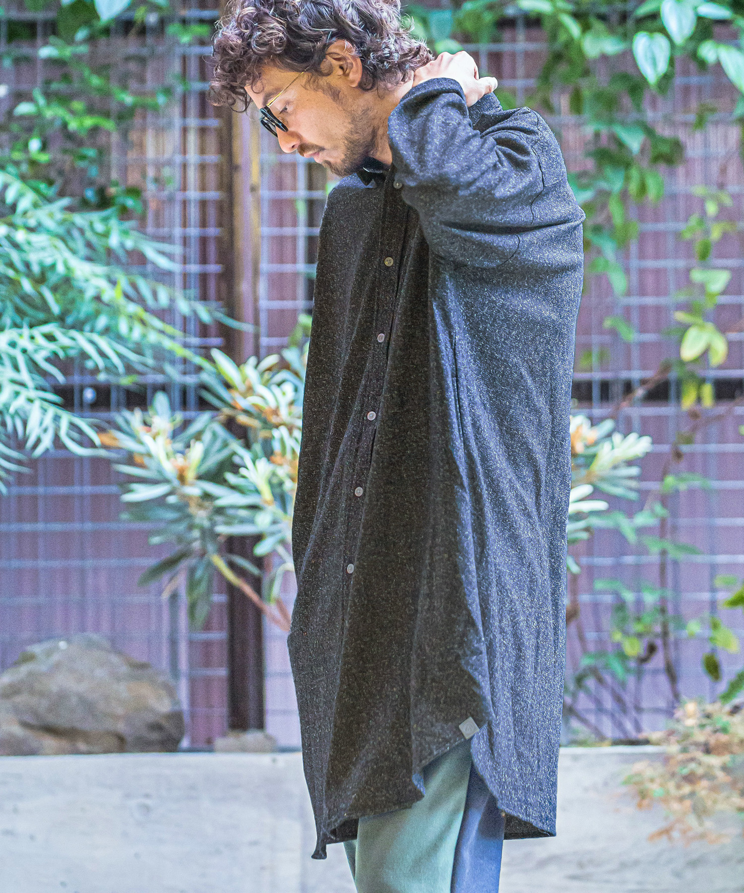【ANGENEHM(アンゲネーム)】【予約販売9月中旬~下旬入荷】Cashmere Wool Long Length Shirts Coat(MADE IN JAPAN) コート(ANG-046)