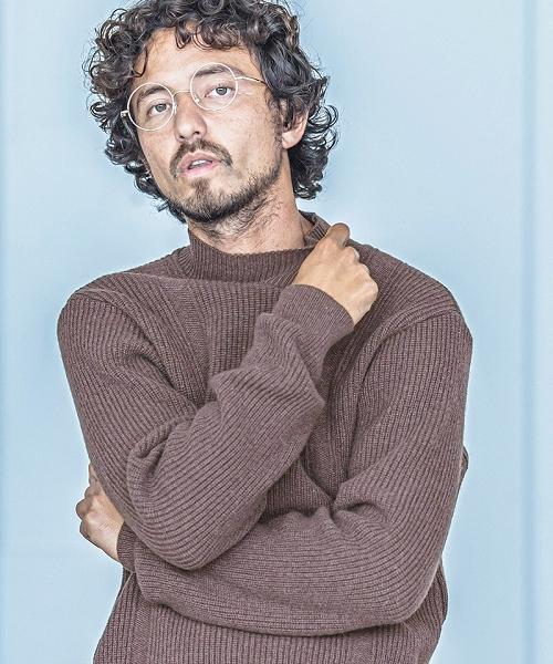 【ANGENEHM(アンゲネーム)】【予約販売10月中旬~下旬入荷】Mock Neck Knit Pullover (MADE IN JAPAN) プルオーバー