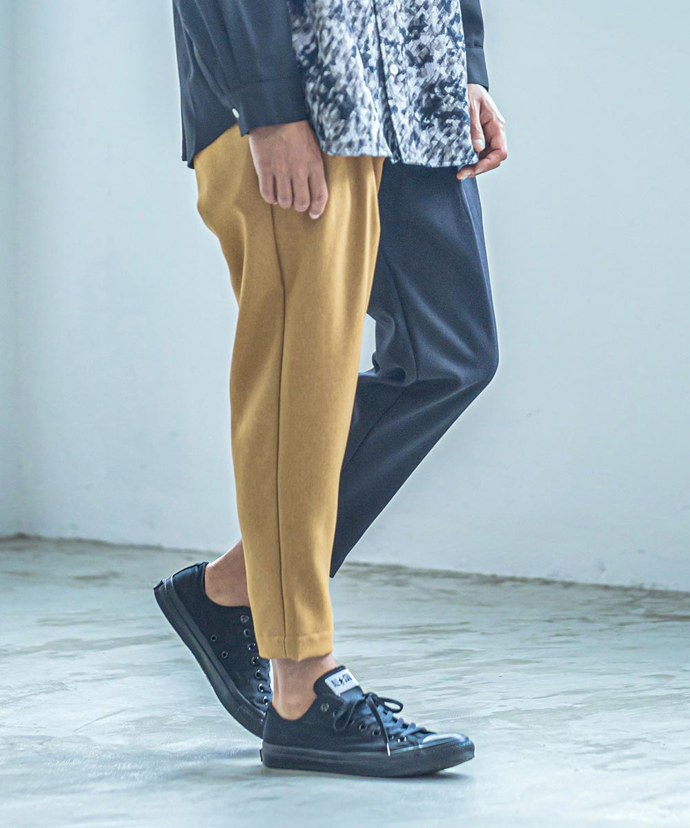 【ANGENEHM(アンゲネーム)】【予約販売9月下旬~10月上旬入荷】Center Switch Two Tuck Wide Tapered Easy Pants(MADE IN JAPAN) パンツ(2033-302AN)