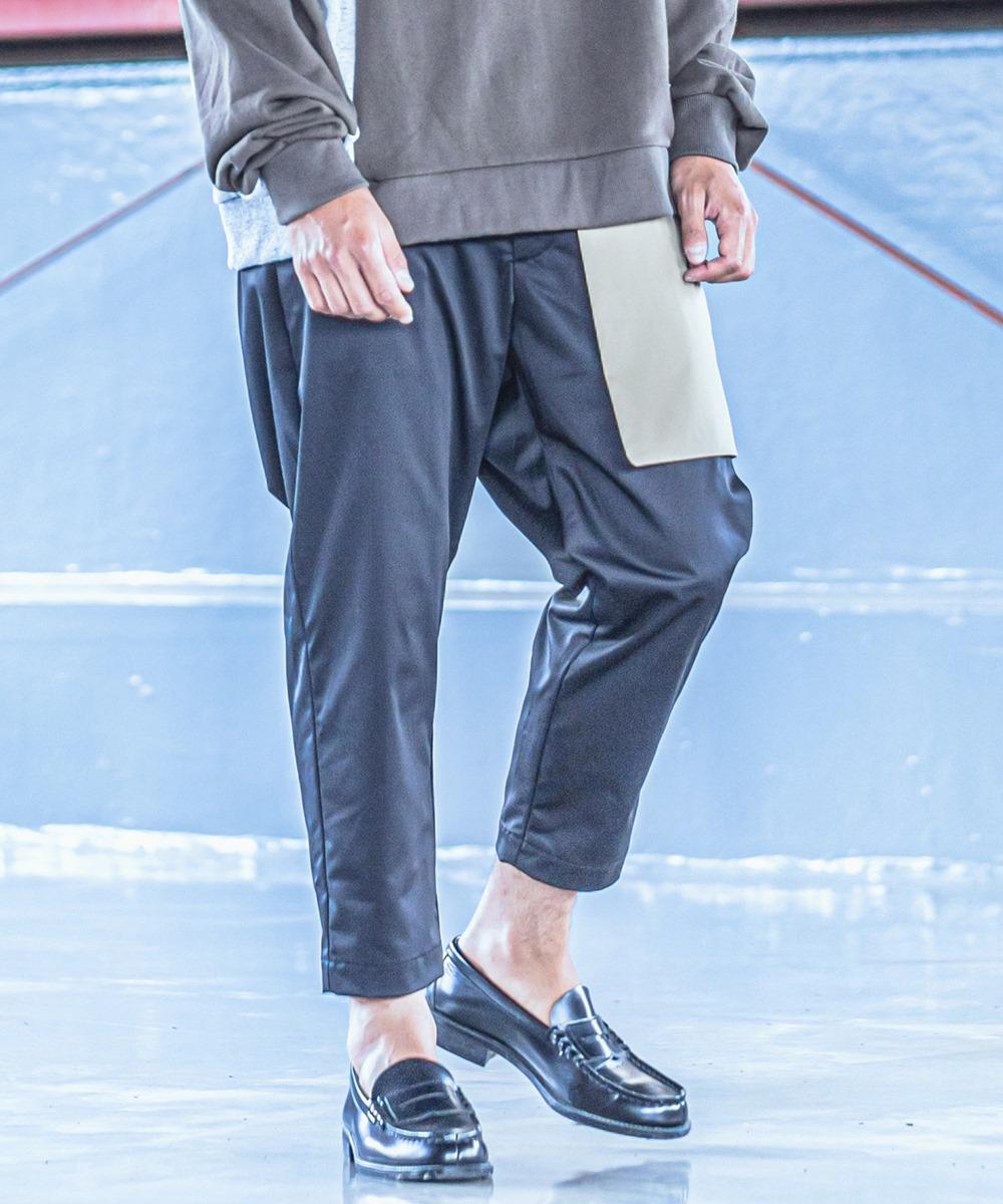 【ANGENEHM(アンゲネーム)】【予約販売9月下旬~10月上旬入荷】Fake Layered Mode Easy Pants(MADE IN JAPAN) パンツ(2033-308AN)