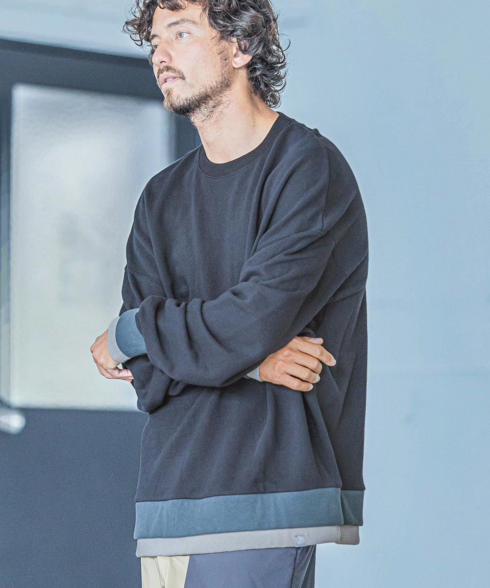 【ANGENEHM(アンゲネーム)】【予約販売9月下旬~10月上旬入荷】Double Rib Sweat Pullover(MADE IN JAPAN) プルオーバー(2032-315AN)