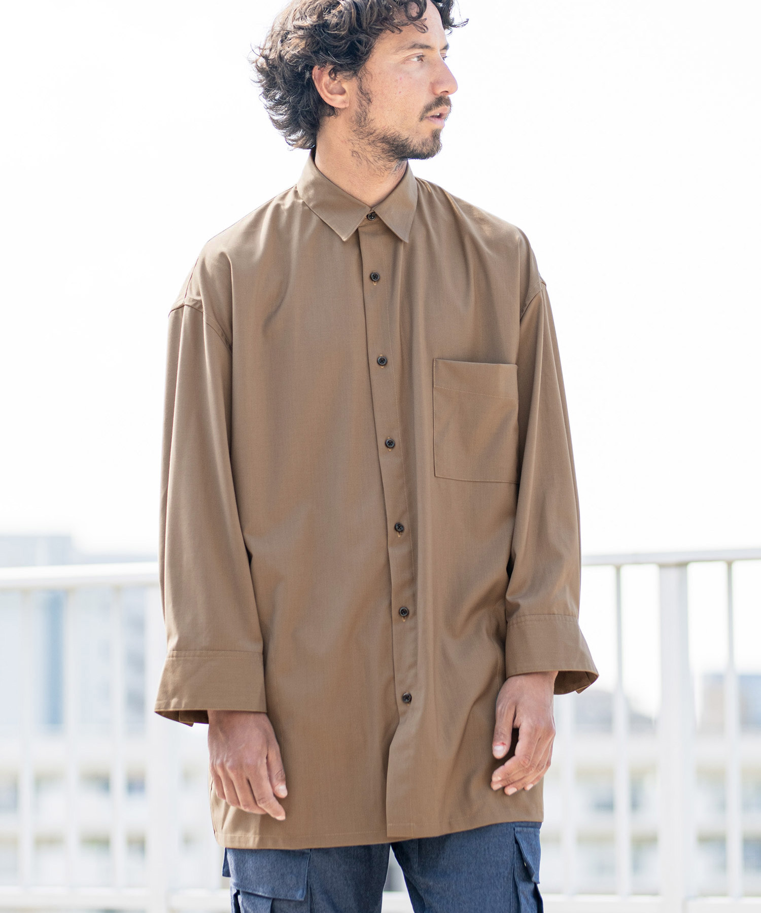 【CAMBIO(カンビオ)】Super Big Silhoutte Long Sleeve Shirts シャツ