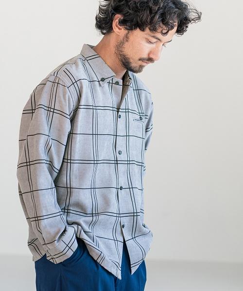 【CAMBIO(カンビオ)】【予約販売9月上旬~中旬入荷】ブロックチェックシャツ(CMB-K5058)