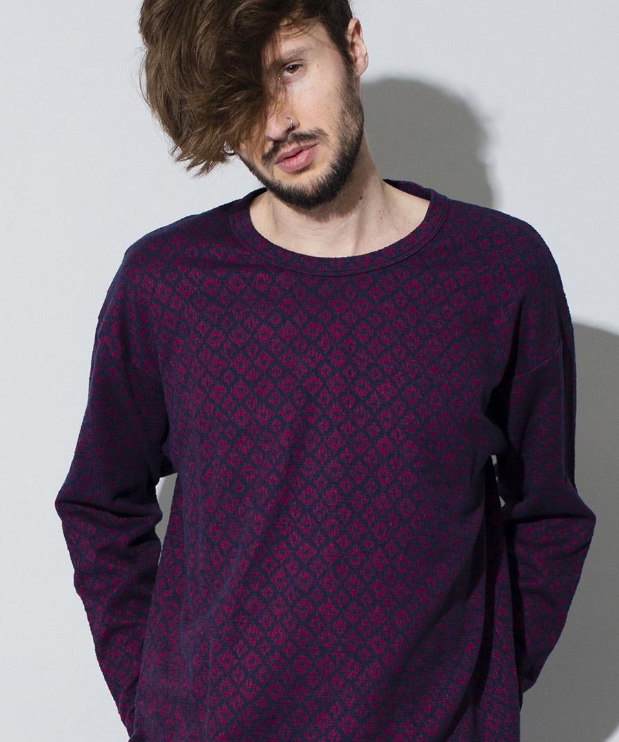 【NO ID.(ノーアイディー)】【予約販売9月上旬~中旬入荷】エスニックツイードBIGロンT Tシャツ(847019-463T)