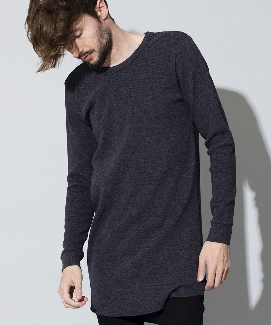 【NO ID.(ノーアイディー)】【予約販売9月上旬~中旬入荷】スーパーストレッチベアサーマルC-NラウンドロンT Tシャツ(847019-464T)