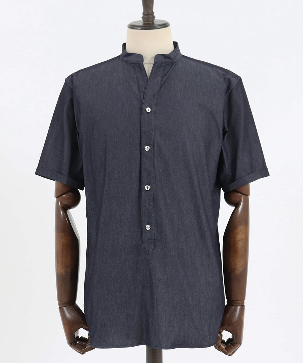 【junhashimoto(ジュンハシモト)】BANDCOLLAR SKIPPER SHIRTS シャツ(1062010011)