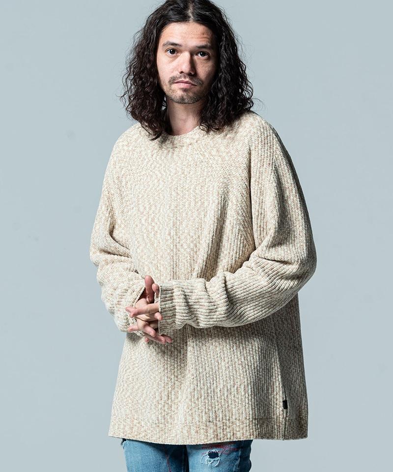 【glamb(グラム)】【予約販売10月上旬~中旬入荷】Mall yarn color knitモールヤーンカラーニット(GB0320-KNT07)