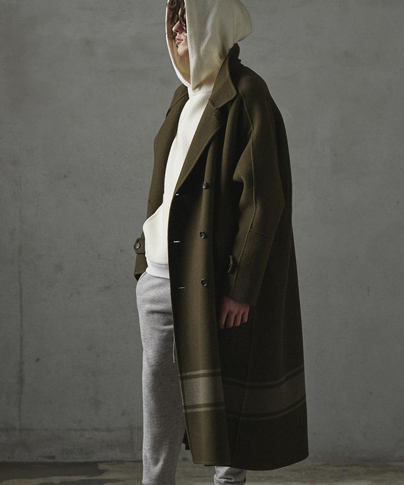 【CASSY(キャシー)】【予約販売10月中旬~下旬入荷】DOUBLE-FACE MILITARY BLANKET COAT コート(PBM-C01-102)