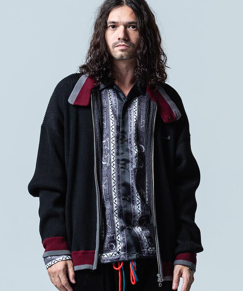 【glamb(グラム)】【予約販売11月下旬~12月上旬入荷】Knit jersey swing top ニットジャージ―スウィングトップ(GB0320-KNT13)