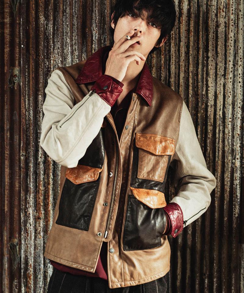 【glamb(グラム)】【予約販売12月上旬~中旬入荷】Hunting leather JKT ハンティングレザージャケット(GB0320-JKT12)