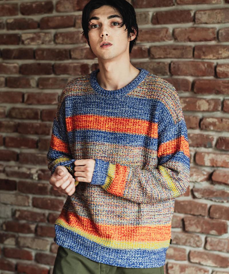 【glamb(グラム)】【予約販売12月上旬~中旬入荷】Multi border knit マルチボーダーニット(GB0320-KNT11)