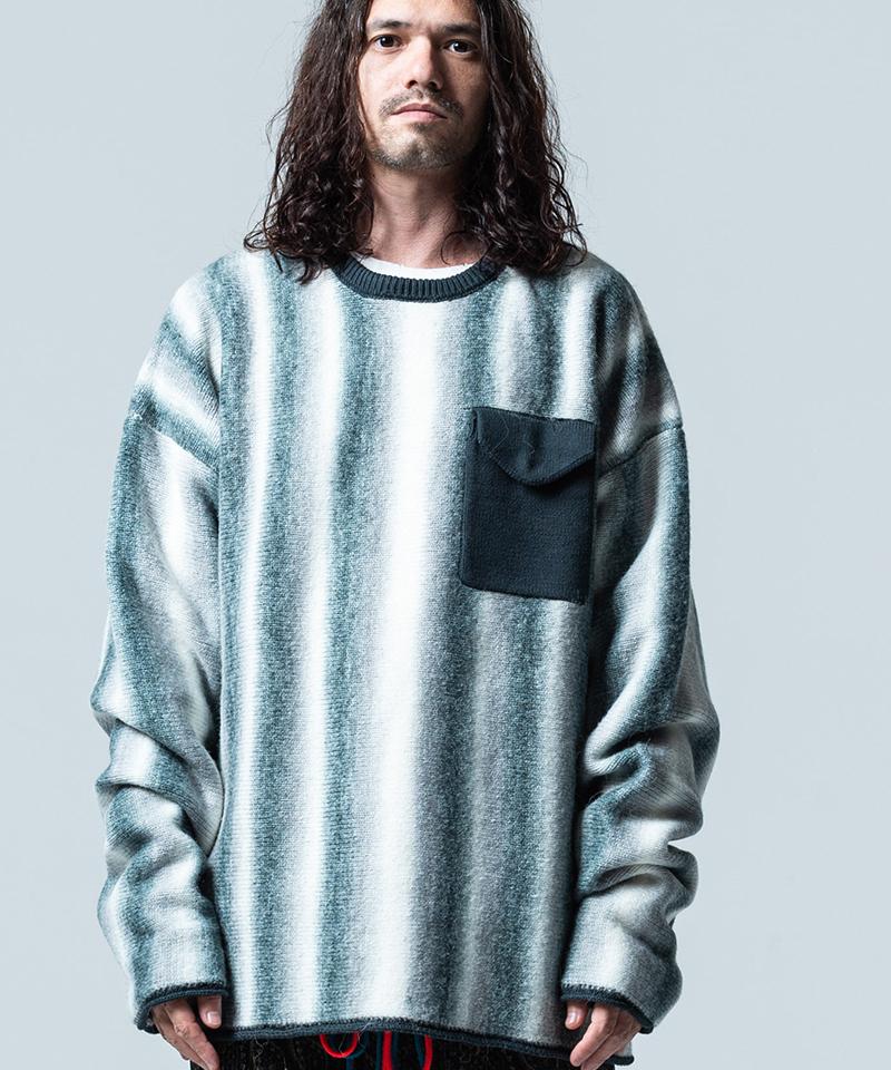 【glamb(グラム)】【予約販売11月上旬~中旬入荷】Gradation stripe knit グラデーションストライプニット(GB0320-KNT12)