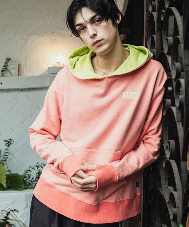 【glamb(グラム)】【予約販売11月下旬~12月上旬入荷】Bicolor vintage hoodie バイカラーヴィンテージフーディ(GB0320-CS15)