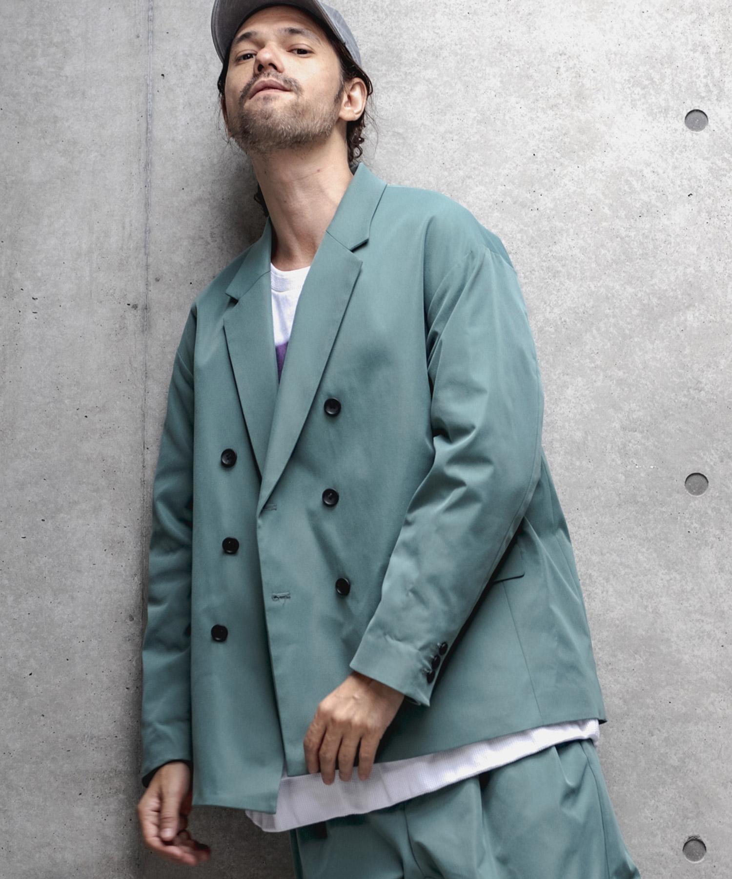 【GLIMCLAP(グリムクラップ)】【予約販売8月中旬~下旬入荷】Double Tailored Jacket ジャケット(32gla-ca)