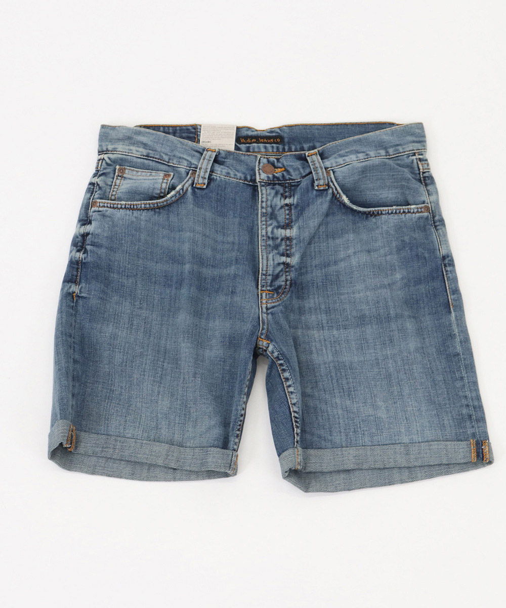【Nudie Jeans(ヌーディージーンズ)】JOSH SHORTS INDIGO FROW パンツ(113354)
