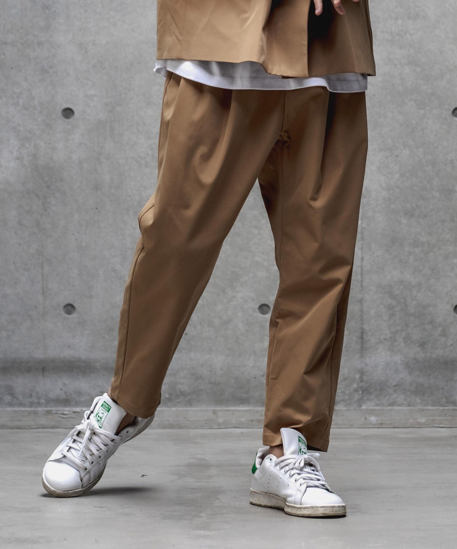 【GLIMCLAP(グリムクラップ)】【予約販売8月中旬~下旬入荷】Three tack design Tapered pants パンツ(33gla-ca)