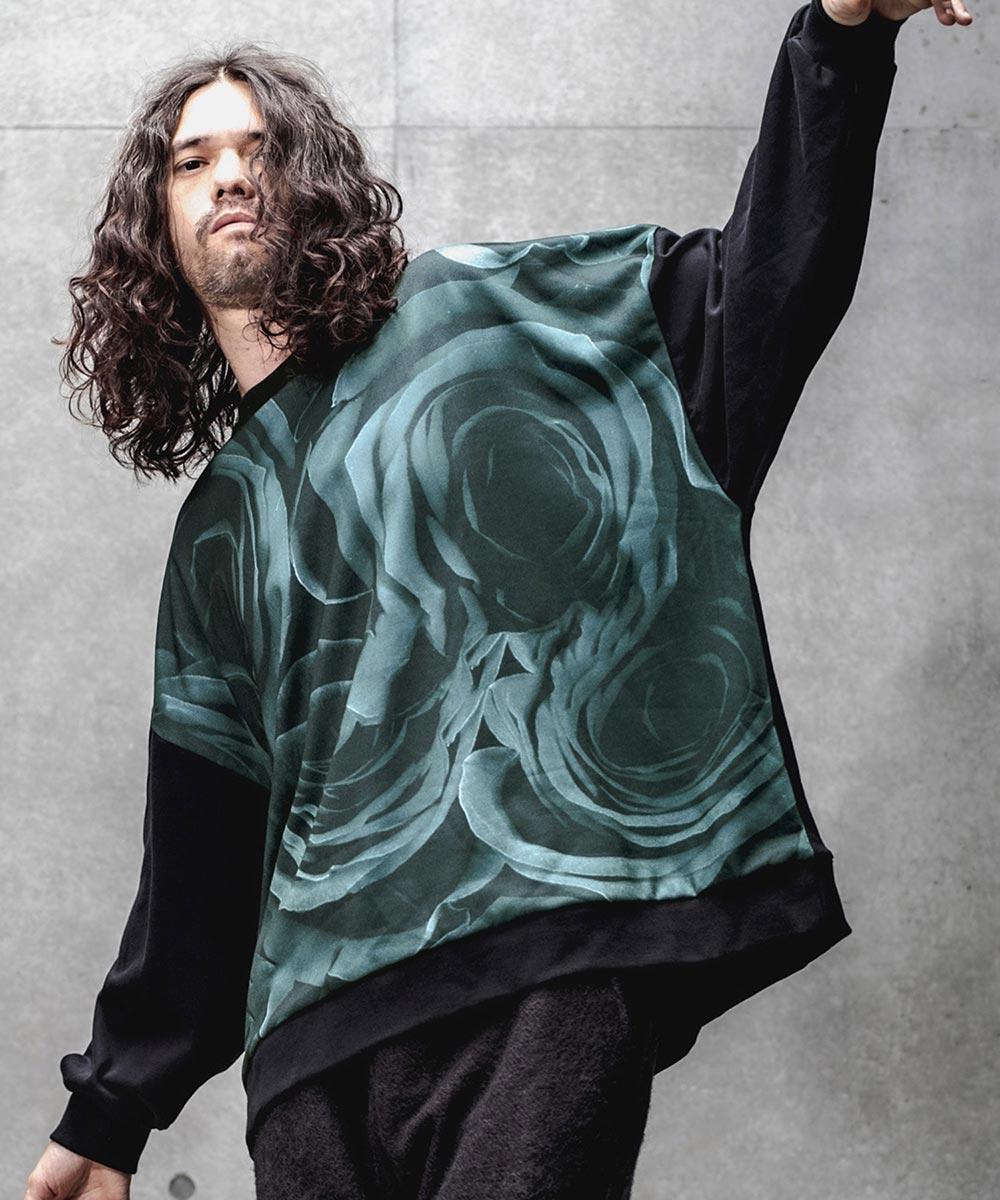 【GLIMCLAP(グリムクラップ)】【予約販売10月上旬~中旬入荷】Sublimation transfer gimmick design Sweat pullover プルオーバー(45gla-ca)