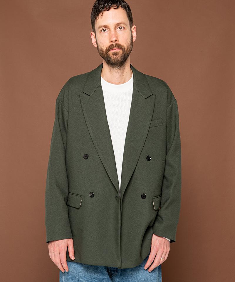 【MROLIVE(ミスターオリーブ)】【予約販売8月下旬~9月上旬入荷】RETORO POLYESTER TWILL -DOUBLE BIG SILHOUTTE SOFT JACKET ジャケット(M-20301)