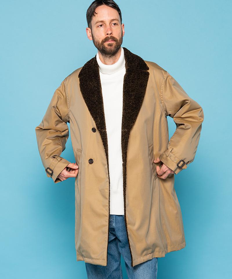 【MROLIVE(ミスターオリーブ)】【予約販売11月中旬~下旬入荷】WATER PROOF BRITISH SHAMBRAY TWILL -SEMI SINGLE BOA LAPEL COAT コート(M-20355)