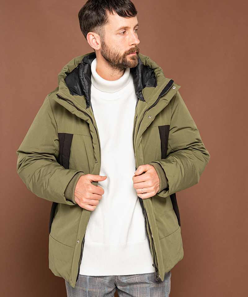 【MROLIVE(ミスターオリーブ)】【予約販売12月上旬~中旬入荷】WATER PROOF ALPINE CLOTH -FLY FRONT ACTIVE DOWN JACKET ダウンジャケット(M-20357)