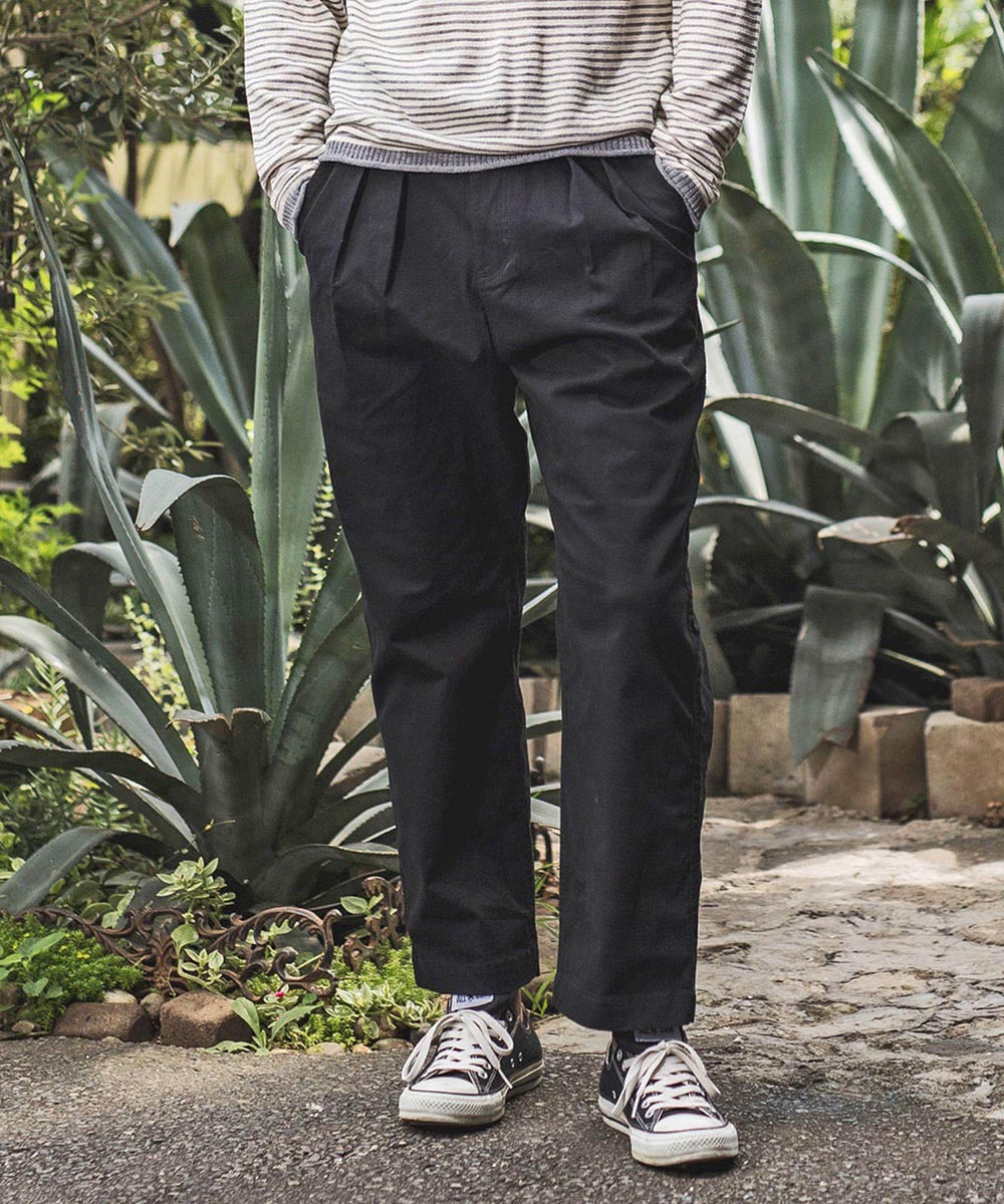 【CAMBIO(カンビオ)】【予約販売9月上旬~中旬入荷】Stretch Twill Two Tuck Tapered Pants パンツ