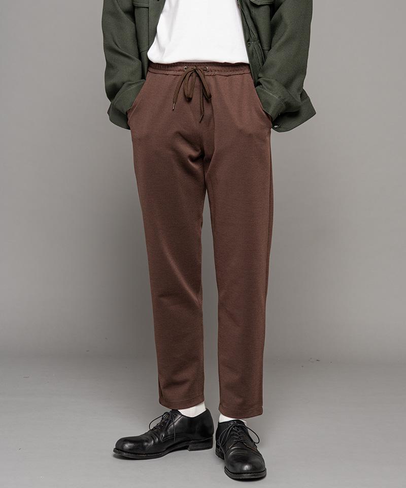 【MROLIVE(ミスターオリーブ)】【予約販売9月下旬~10月上旬入荷】DOUBLE FACE TWILL JERSEY -RELAX SLIM EASY PANTS イージーパンツ(M-20320)