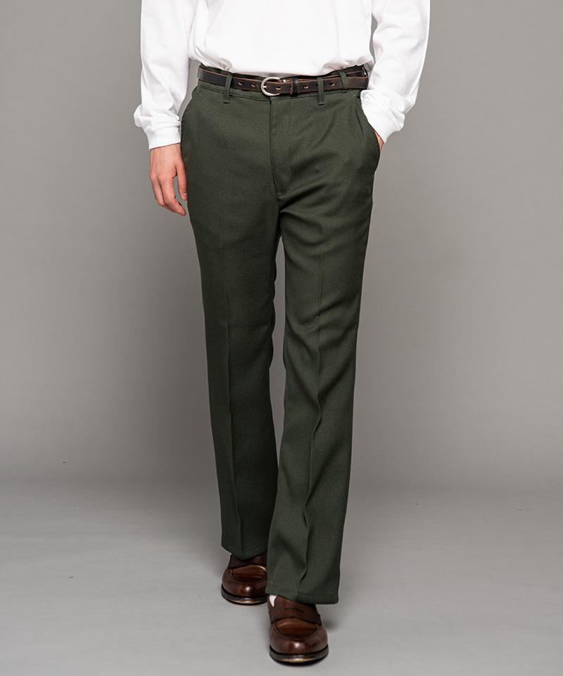 【MROLIVE(ミスターオリーブ)】【予約販売8月末~9月上旬入荷】RETORO POLYESTER TWILL -STA-PREST TIGHT FLARE PANTS パンツ(M-20302)