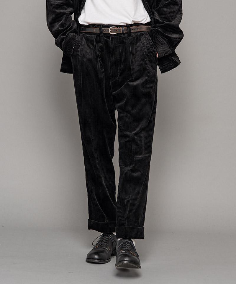 【MROLIVE(ミスターオリーブ)】【予約販売11月上旬~中旬入荷】5W WIDE CORDUROY -INSIDE TWO PLEATS TROUSERS パンツ(M-20348)