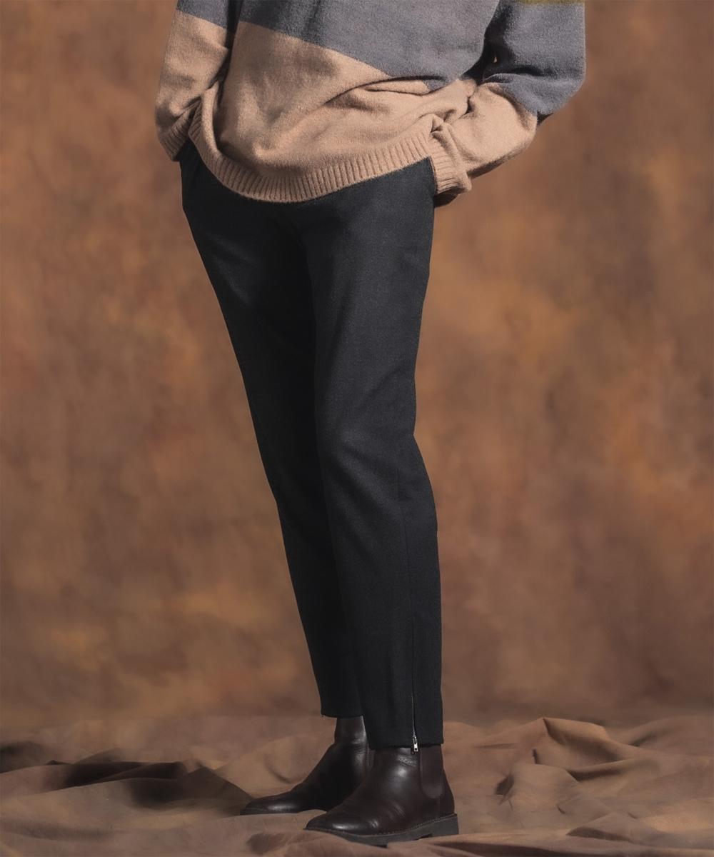 【Jih Nunc(ジーヌンク)】【予約販売10月中旬~下旬入荷】サイドジップスラックス(JIH-K0177)